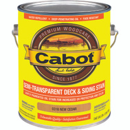 Cabot 0316 Stain Semi Transparent Oil Exterior Cedar Gallon