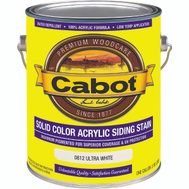 Cabot 0812 Stain Acrylic Exterior Ultra White Gallon