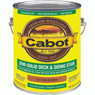 Cabot 1417 Stain Semi Solid Oil Exterior Redwood Gallon