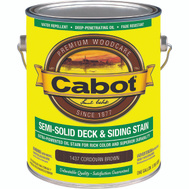 Cabot 1437 Stain Semi Solid Oil Cordovan Brown Gallon