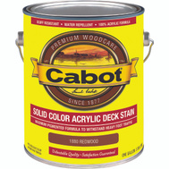 Cabot Valspar 1880 Stain Solid Acrylic Exterior Redwood Gallon