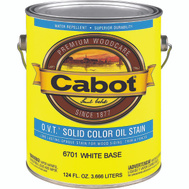 Cabot 6701 Stain Solid Oil Exterior VOC White Gallon
