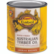 Cabot Valspar 19460 Oil Australian Timber VOC Jarrah Brown Quart