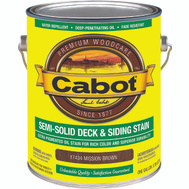 Cabot Valspar 17434 VOC Oil Semi Solid Mission Brown Gallon