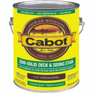 Cabot Valspar 17437 VOC Cabot Oil Semi Solid Cordovan Brown Gallon