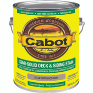 Cabot Valspar 17444 VOC Cabot Oil Simi-Solid Driftwood Gray Gallon