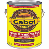 Cabot Valspar 1837 Gallon Brown Acrylic Deck Stain