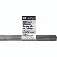 USG Interiors 207535 Hanger Wire 6 Foot Pack Of 50