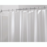 InterDesign 12052 Clear Shower Curtain Liner 100% PEVA Mold And Mildew Resistant