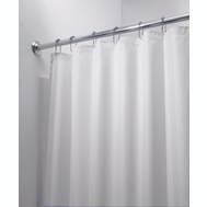InterDesign 14652 Shower Curtain-Liner Wht Poly
