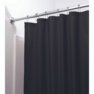 InterDesign 14659 Shower Curtain-Liner Blk Poly