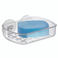 InterDesign 19600 Soap Dish Suction Clear