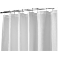 InterDesign 22980 72X84 WHT Carlt Curtain