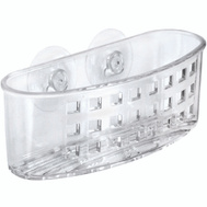 InterDesign 38900 Clear Suction Scrubcenter