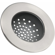 InterDesign 65380 Stainless Steel Sink Strainer With Rubber Insert