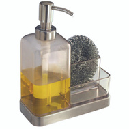 InterDesign 67080 Soap Dish -Sponge Caddy Ss