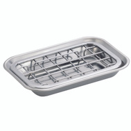 InterDesign 73012 2PC SS Soap Dish
