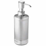 InterDesign 76350 York Soap Pump Brushed Stainless Steel With Chrome Accents