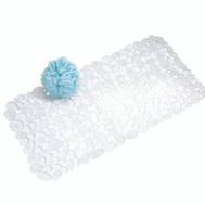 InterDesign 80010 Bathmat Pebblz Clear