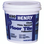 WW Henry 12097 Clearpro Thin Spread Tile Adhesive Clear 1 Quart Number 430