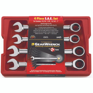 GearWrench 9309 Wrench Combo Set 4Pc Sae Fine