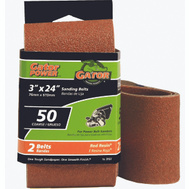 Ali 3157 Gator 3 By 24 Inch Professional Aluminum Oxide Sanding Belt 80 Grit Medium 2 Pack