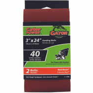 Ali 3158 Gator 3 By 24 Inch Professional Aluminum Oxide Sanding Belt 40 Grit Extra Course 2 Pack