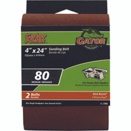 Ali 3186 Gator 4 By 24 Inch Professional Aluminum Oxide Sanding Belt 80 Grit Medium 2 Pack