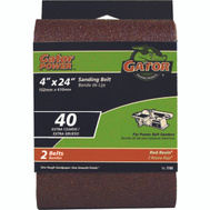 Ali 3188 Gator 4 By 24 Inch Professional Aluminum Oxide Sanding Belt 40 Grit Extra Course 2 Pack
