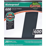 Ali 4238 Gator 9 By 11 Inch Waterproof Sandpaper 600 Grit Silicon Carbide