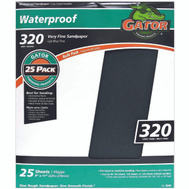 Ali 4240 Gator 9 By 11 Inch Waterproof Sandpaper 320 Grit Silicon Carbide