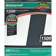 Ali 4237 Gator 9 By 11 Inch Waterproof Sandpaper 1500 Grit Silicon Carbide