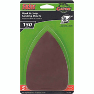 Ali 3731 Gator 3 1/2 By 5 Inch Mouse Sander Detail Sanding Sheets Hook And Loop 150 Grit Fine Aluminum Oxide 5 Pack