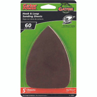 Ali 3733 Gator 3 1/2 By 5 Inch Mouse Sander Detail Sanding Sheets Hook And Loop 60 Grit Coarse Aluminum Oxide 5 Pack
