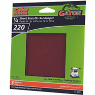 Ali 4072 Gator 4-1/2 By 4-1/2 Inch Sandpaper Adhesive Backed 220 Grit Aluminum Oxide 5 Sheets