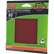 Ali 4075 Gator 4-1/2 By 4-1/2 Inch Sandpaper Adhesive Backed 60 Grit Aluminum Oxide 5 Sheets