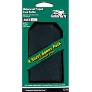 Ali 4125 Gator Grit 2-5/8 By 5 Inch Waterproof Sanding Block Refill Sheets Assorted Grits Pack Of 8