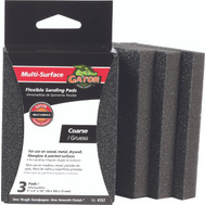 Ali 4157 Gator 3 By 4 By 1/2 Inch Flexible Sanding Pad 60 Grit Aluminum Oxide 3 Pads