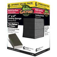 Ali 4200 Gator 3 By 4 By 1 Inch Multi Surface Sanding Sponge Medium/Coarse 6 Pack