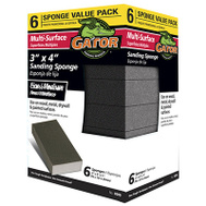Ali 4204 Gator 3 By 4 By 1 Inch Multi Surface Sanding Sponge Extra Fine/Fine 6 Pack