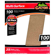 Ali 4209 Gator 9 By 11 Inch Multi Surface Sandpaper 100 Grit Aluminum Oxide
