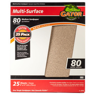 Ali 4210 Gator 9 By 11 Inch Multi Surface Sandpaper 80 Grit Aluminum Oxide 25 Sheets