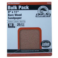Ali 4225 Gator 9 By 11 Inch Bare Wood Sandpaper 150 Grit Garnet 25 Sheets