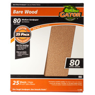 Ali 4228 Gator 9 By 11 Inch Bare Wood Sandpaper 80 Grit Garnet 25 Sheets