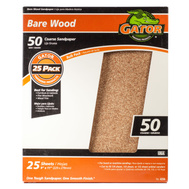 Ali 4230 Gator 9 By 11 Inch Bare Wood Sandpaper 50 Grit Garnet 25 Sheets