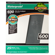Ali 4238 Gator 9 By 11 Inch Waterproof Sandpaper 600 Grit Silicon Carbide 25 Sheets