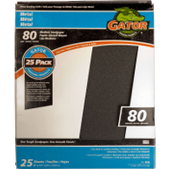 Ali 4246 Gator 9 By 11 Inch Emery Cloth 80 Grit 25 Sheets