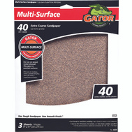 Ali 4439 Gator 9 By 11 Inch Multi Surface Sandpaper 40 Grit Aluminum Oxide 3 Sheets