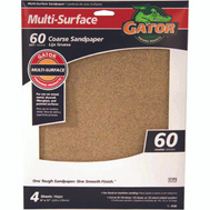 Ali 4440 Gator 9 By 11 Inch Multi Surface Sandpaper 60 Grit Aluminum Oxide 4 Sheets