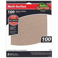 Ali 4441 Gator 9 By 11 Inch Multi Surface Sandpaper 100 Grit Aluminum Oxide 5 Sheets
